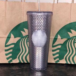 Studded Starbucks Tumbler Platinum